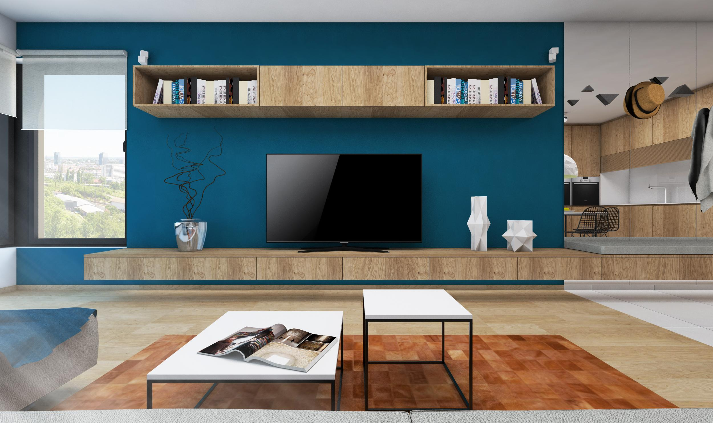 Living Room Tv Set Visualization Or Execution Rules Architects