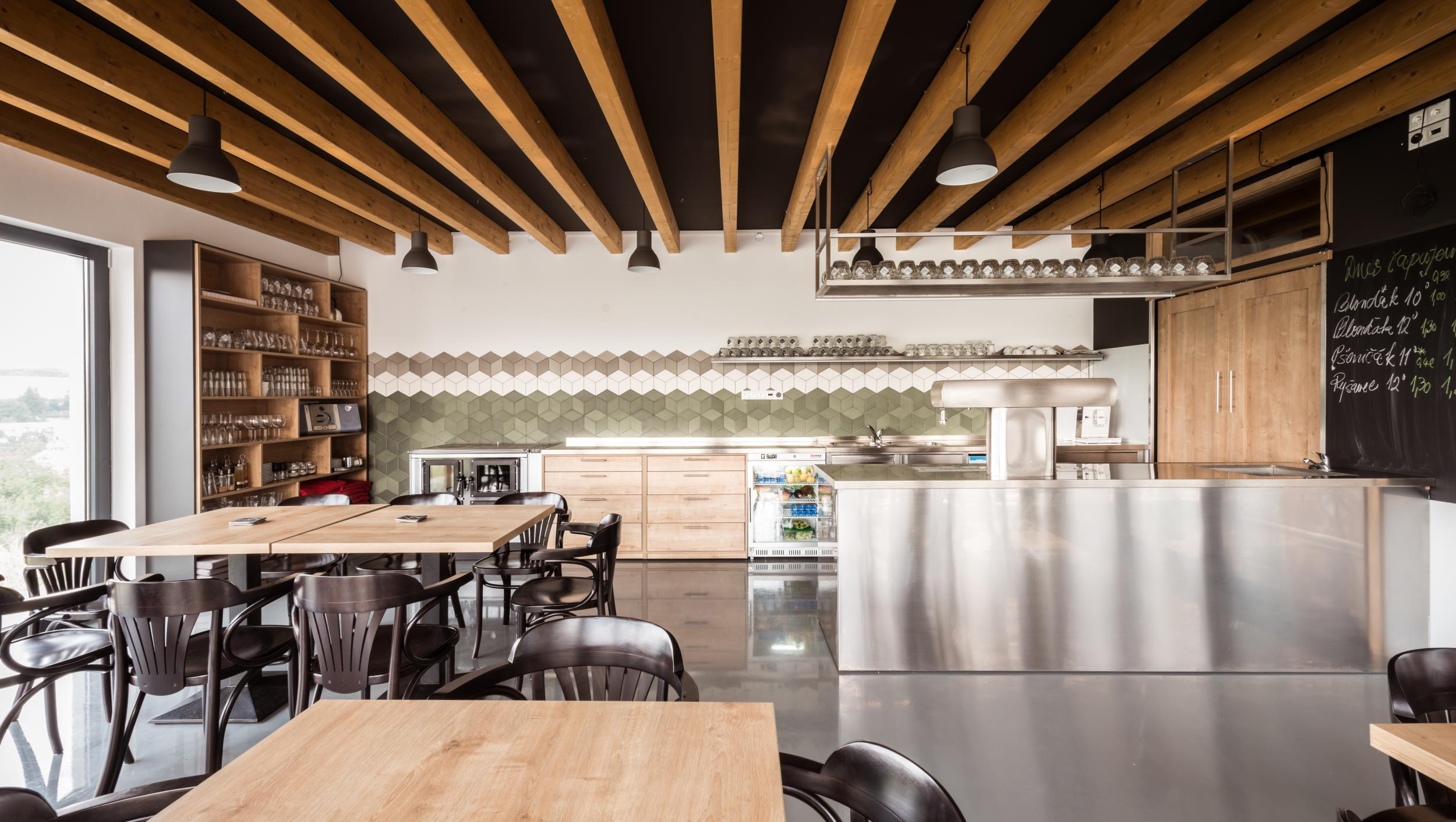 Interior Nature Design For Restaurant : Natural interior of restaurant at the distillery stara