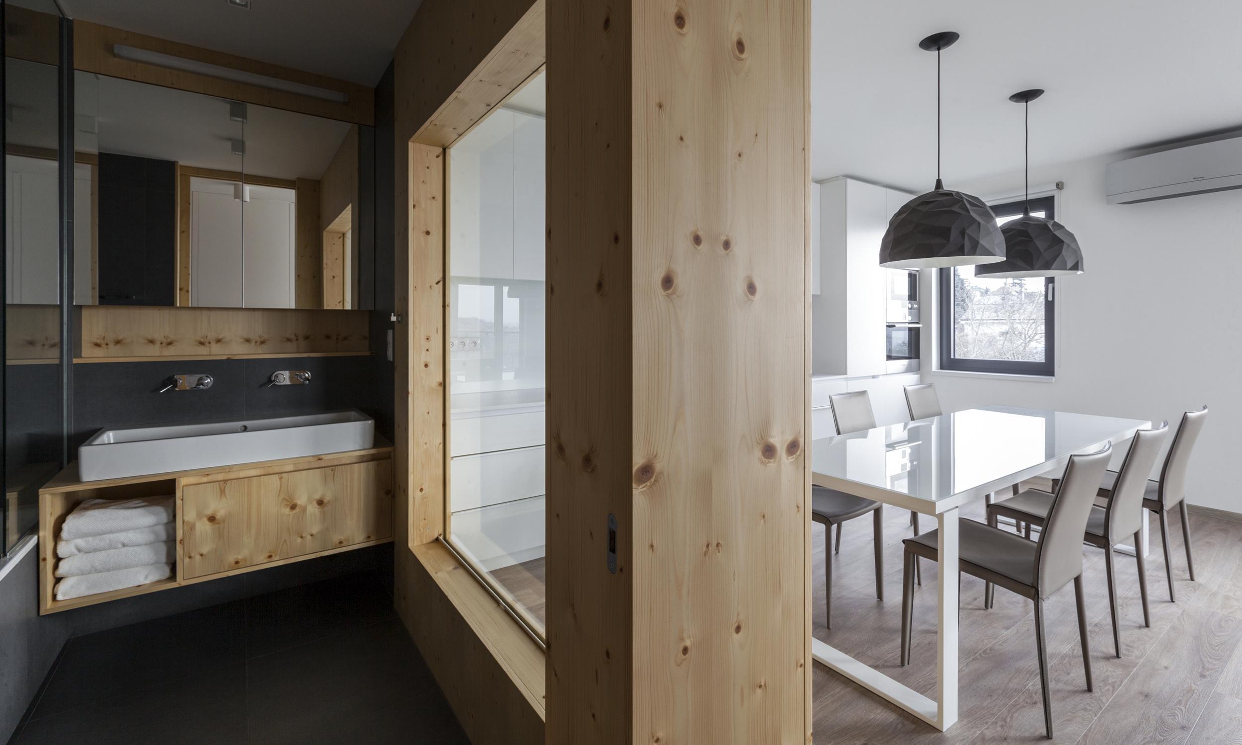 Stolar Okna : Three room apartment with a concrete wall bratislava slovakia
