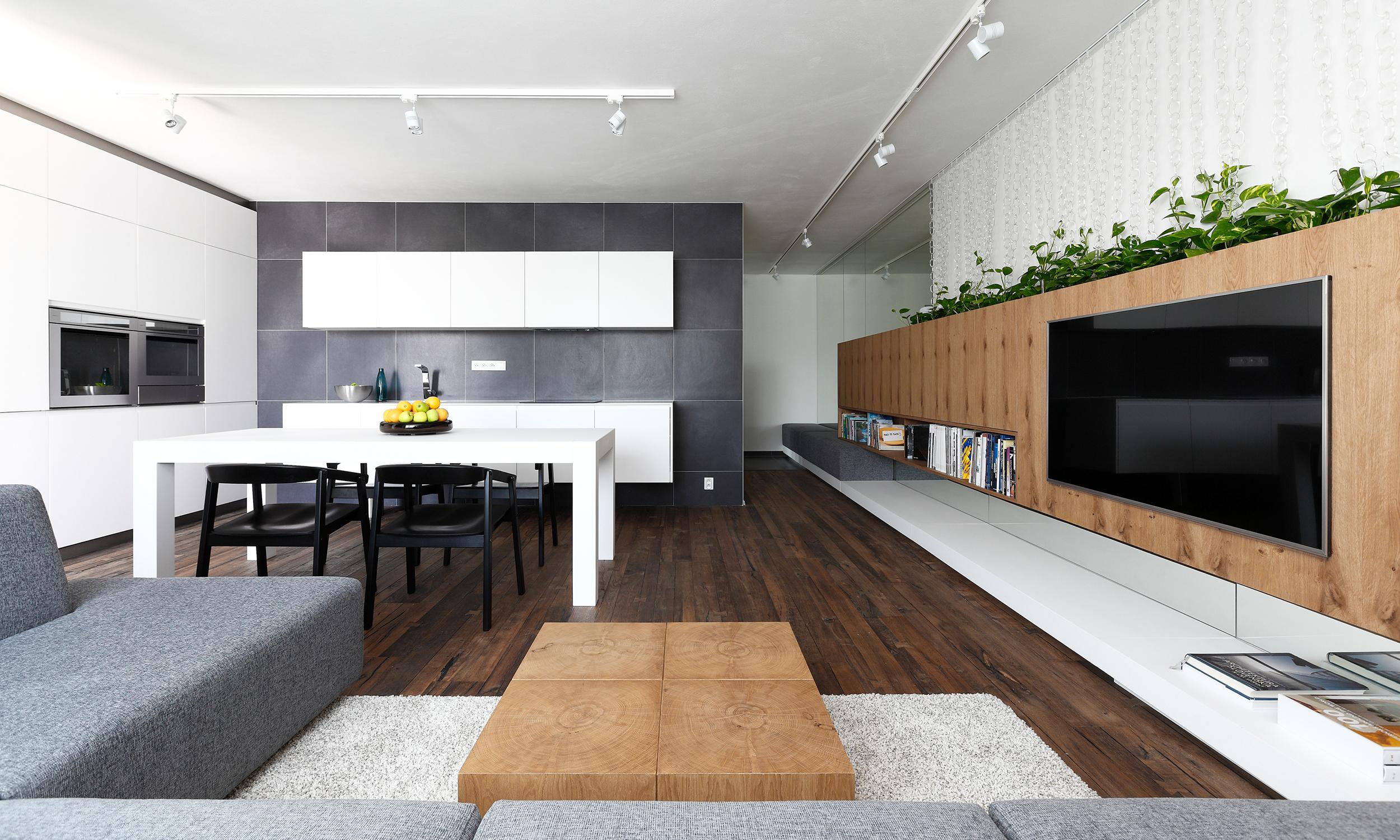 interior rules architects interior design of a living room with a kitchen and dining room bratislava slovakia