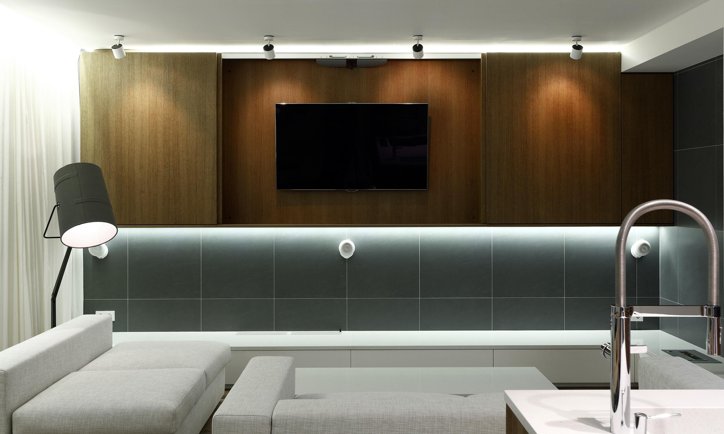 Ski apartment semmering stuhleck austria rules architects for Tv position in living room