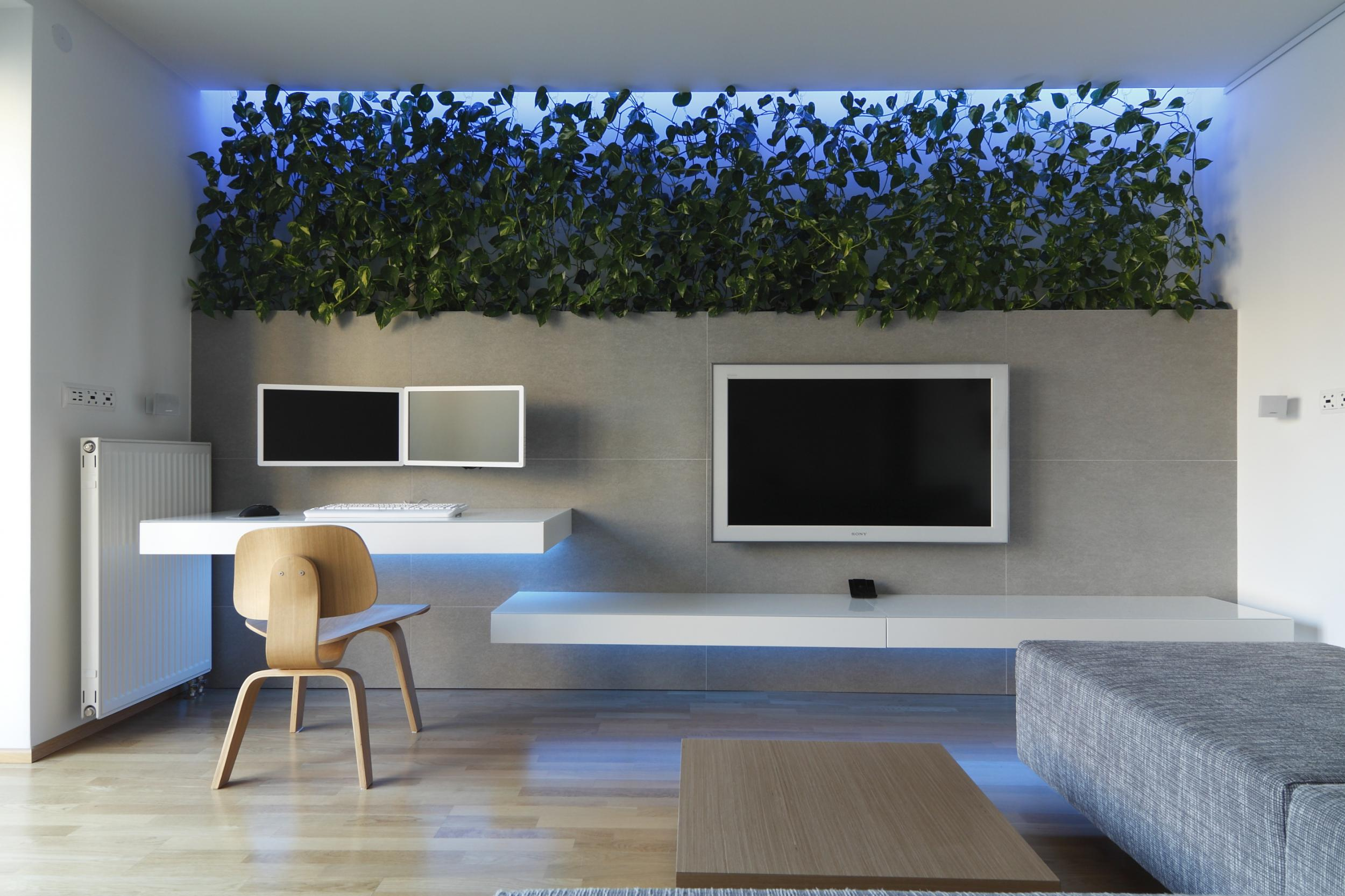 Color RGB LED Backlight In Interior RULES Architects